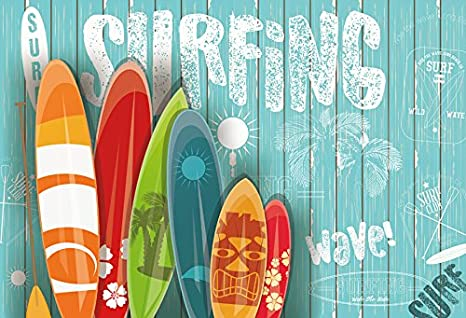 Yeele 10x6 5ft Summer Surfing Backdrop Surfboard Photography Background Pictures For Kid Children Adult Portrait Photo Booth Video Shooting Vinyl