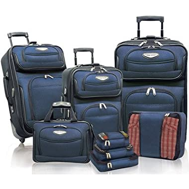 Traveler's Choice Travel Select Amsterdam 8 Piece Luggage Set (Navy/Black)