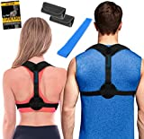 Posture Corrector for Women & Men + Stretching Band | Upper Back...