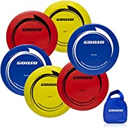 Disc Golf Set – Driver, Mid-Range & Putter, Comfortable Plastic, Colors May Vary (6 Pack) with Disc Golf B