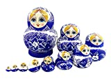Best Winterworm Dolls - Winterworm 10pcs Russian Nesting Doll Handmade Wooden Dolls Review