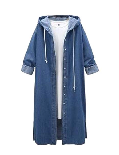 Amazon.com: Yeokou - Chaqueta larga para mujer, estilo ...