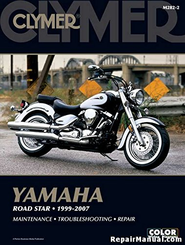 M282-2 1999-2007 Yamaha XV1600 XV1700 Road Star Repair Motorcycle Manual by Clymer