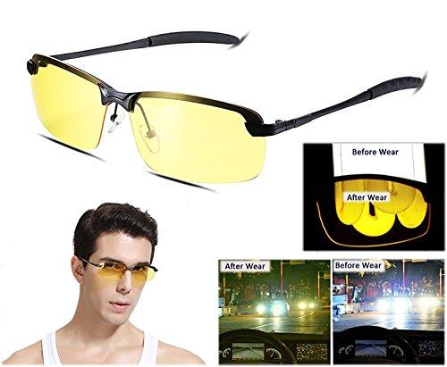 Mens Womens Anti Glare Night View Polarized Semi Frame Sunglasses For Driving Vivic  Black