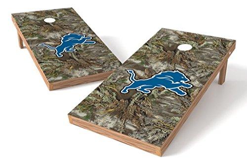 PROLINE NFL 2'x4' Detroit Lions Cornhole Set - Realtree Max-1 Camo Design