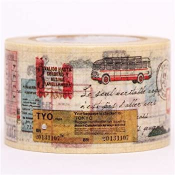 map ticket bus travel mt Washi Masking Tape deco tape