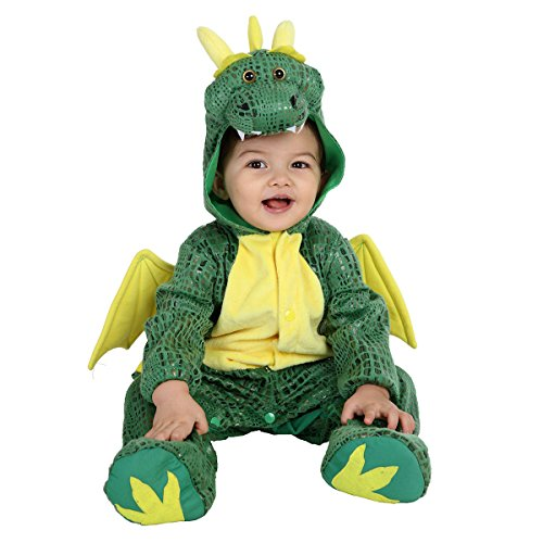 Dragon Girl Halloween Costume (JFEELE Halloween Dragon Costume for Baby Girls and Boys - Perfect Cosplay & Theme Party Dress Up Outfit Gift - 24 Months to 36 Months)