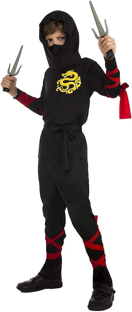 SYMTOP Disfraz de Ninja para Niños Traje de Kung Fu Equipo de ...