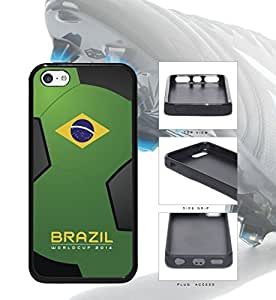 Brazil World Cup 2014 Professional Soccer Sports Rubber TPU Case Cover iPhone 5c