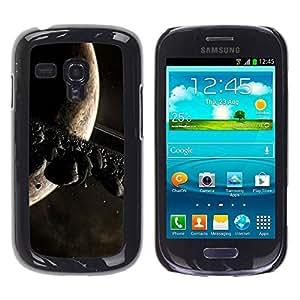 Carcasa Funda Prima Delgada SLIM Casa Case Bandera Cover Shell para Samsung Galaxy S3 MINI NOT REGULAR! I8190 I8190N / Business Style Space Planet Galaxy Stars 11