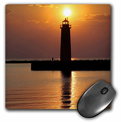 (3drose MI, Muskegon Lighthouse On Lake Michigan - US23 RER0002 - RIC Ergenbright - Mouse Pad)