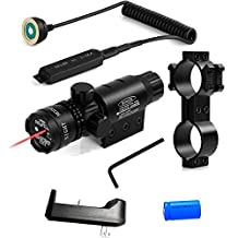 Wenxy Green/Red Laser Sight System High Powered Tactical Green/Red Laser with Picatinny Rail Mount Barrel Mount Pressure Switch and On/Off Switch for Rifles and Shotguns