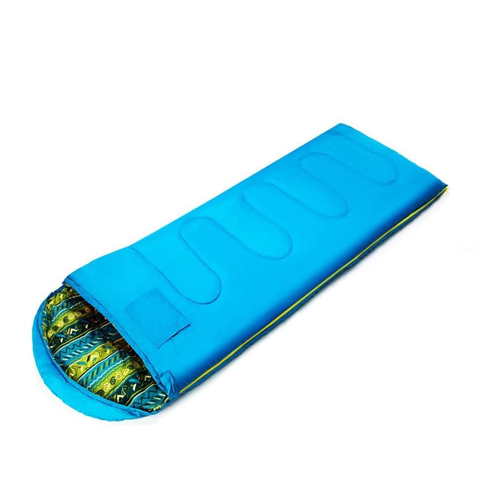 bluee 1.3kg Classic Warm Sleeping Bag Adult Indoor Thickening Warm Outdoor Camping Winter Dirty Cotton Sleeping Bag