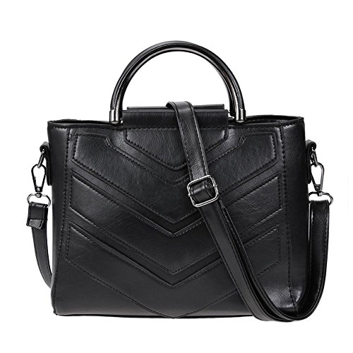 Domybest - Shoulder Bag Polyurethane Black Black Black Woman