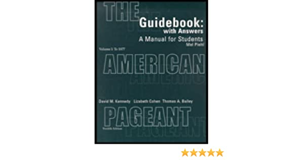 amazon com guidebook with answers a manual for students for the rh amazon com American Pageant 15th Edition American Pageant 12th Edition