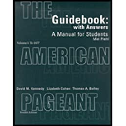 amazon com guidebook with answers a manual for students for the rh amazon com American Pageant 14th Edition American Pageant 16th Edition
