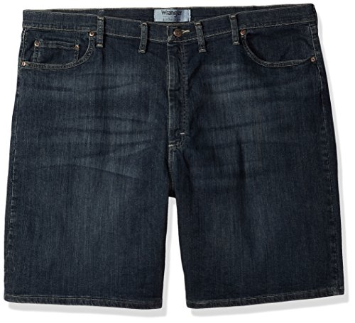Wrangler Authentics Men's Big & Tall Classic Relaxed Fit Five Pocket Jean Short, Moonlight 48 Denim Five Pocket Shorts