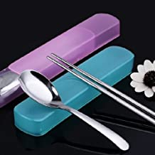 Stainless Steel Personalized Spoons+Chopsticks With Nice Package