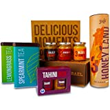 Yoffi Premium Gift Basket - Organic Tea Tahini Pack & Honey Collection