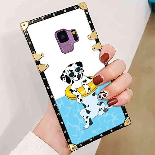 Cool Dalmatians Square Case Cover Fits for Samsung Galaxy S9 (5.8inch)