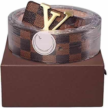 Fashion Leather Metal Buckle Unisex Women Men Belt Casual Business