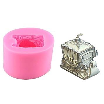Moonlovey Molde de Silicona, Molde para Velas con Forma de Trineo de Navidad para Hacer Chocolates de Aroma y jabón de Yeso (Color al Azar): Amazon.es: ...