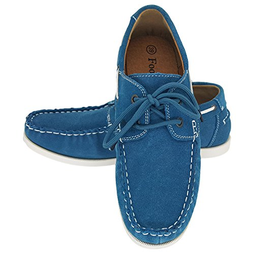 Slip FootFeel Womens Stealblue Womens Shoes Suede Classic On FootFeel Moccasin Sxdwqa