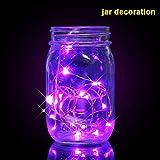 Iskylie 6pcs Christmas 10LED Bottle Lights Decoration Battery Powered Wine Bottle String Lights Ornament Festival (10Led, Purple)