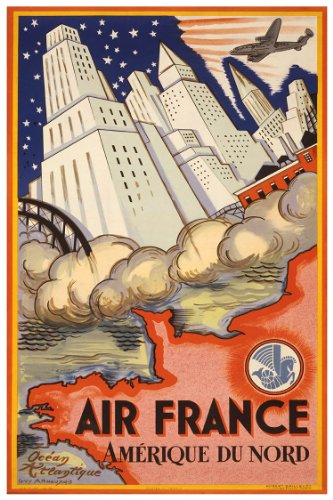 air-france-travel-print-amerique-du-nord-art-poster-measures-24-high-x-18-wide-610mm-high-x-458mm-wi