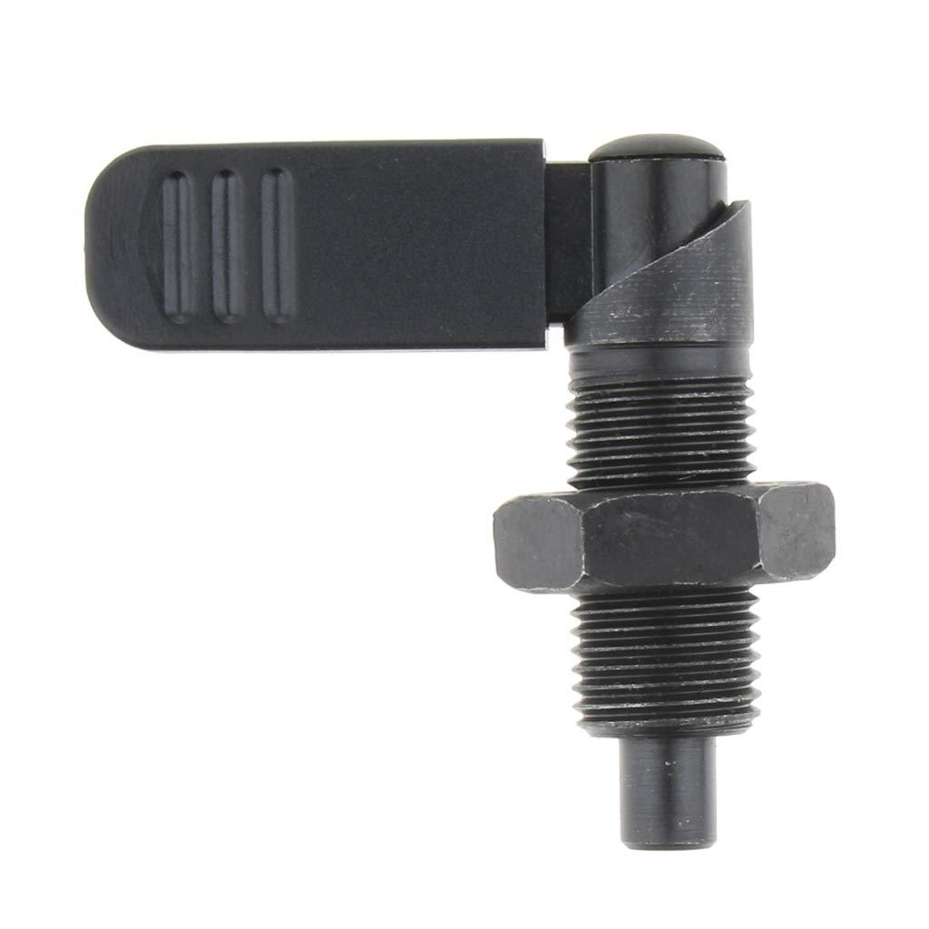 M16 /× 10 Homyl Piston dIndexage Corps en Acier au Carbone avec Goupille et Poign/ée de Tirage Filetage Fin