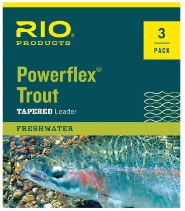 Rio Fly Fishing Leaders Powerflex Knotless 12Ft 5X Leaders 3 Pack Fishing Line Clear