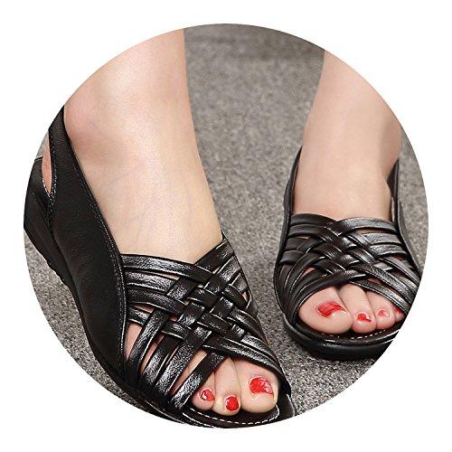 Genuine Buckle Gladiator Tied Flat New Sole Shoes Leather Toe Beige Soft Strap Cross Peep Loft qaZwSt