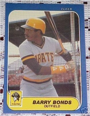 Fleer Barry Bonds - 1986 Fleer Update Barry Bonds Rookie Card