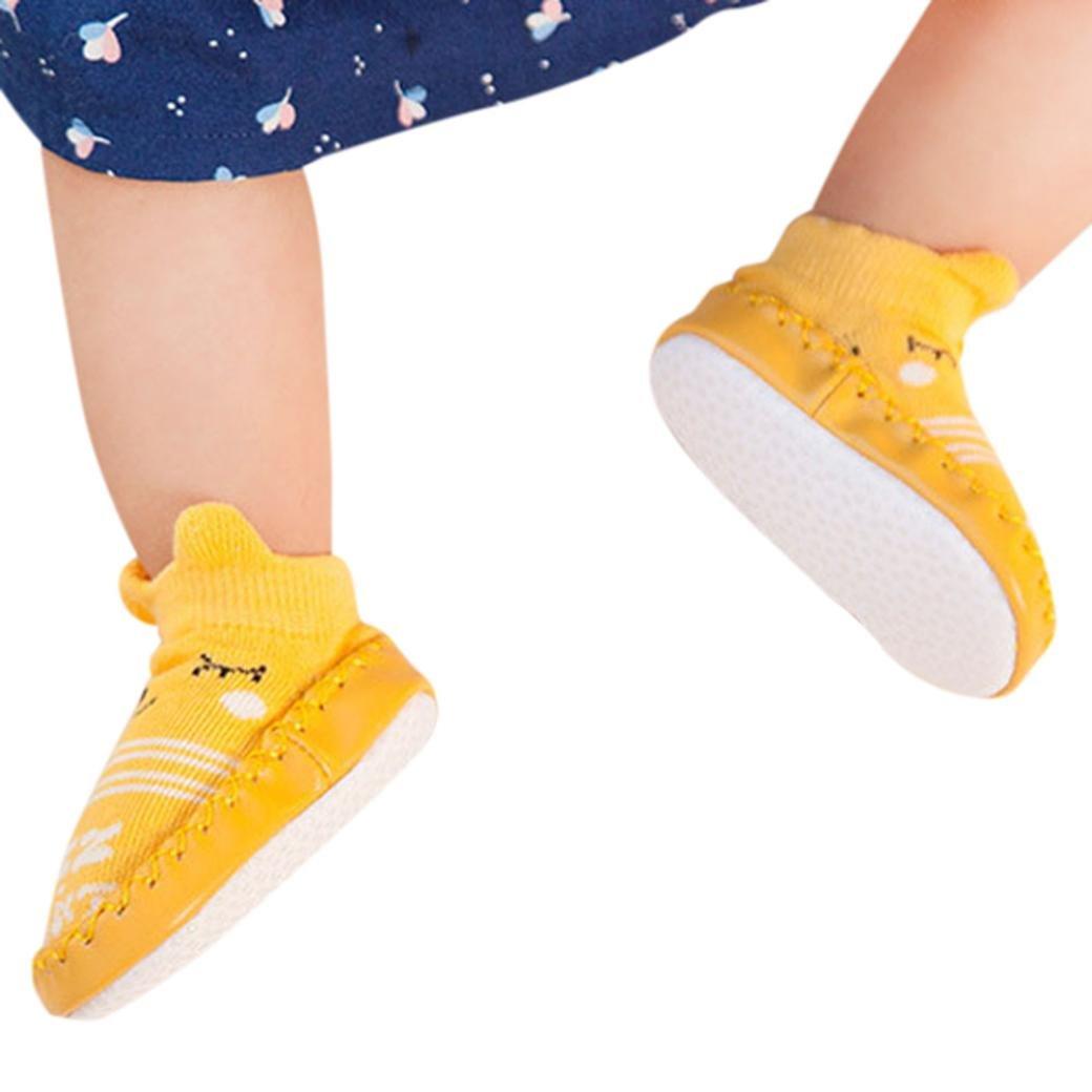 2250d6a52 K-youth® Invierno Bebé Niñas Niños Indoor Zapatillas Piso Calcetines Patrón  De Dibujos Animados