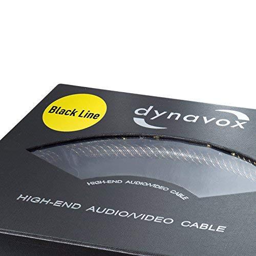 3/m Color Negro Dynavox 207483/Line Altavoz de Cable
