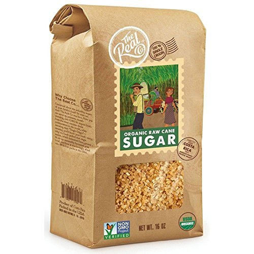 The Real Co Organic Raw Cane Sugar, 16 Ounce - 6 per case.