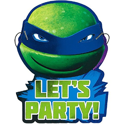 Teenage Mutant Ninja Turtles Invitations | Pack of 8 | Party Supply -