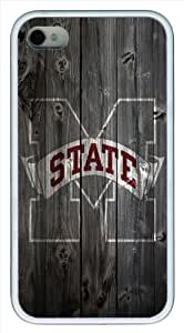 Mississippi State Bulldogs wood background iPhone 4 4s Case, Design white case for iPhone 4 4s, Cover iPhone 4 4s case by icecream design