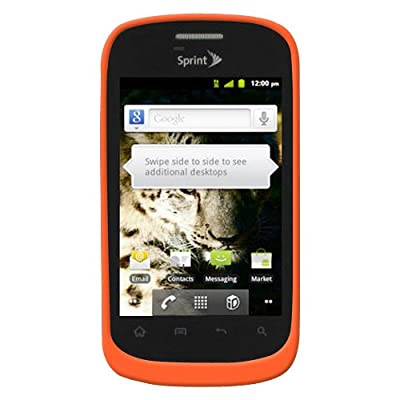 Amzer AMZ93547 Silicone Jelly Skin Fit Case Cover for ZTE Fury N850 - 1 Pack - Retail Packaging - Orange by Amzer