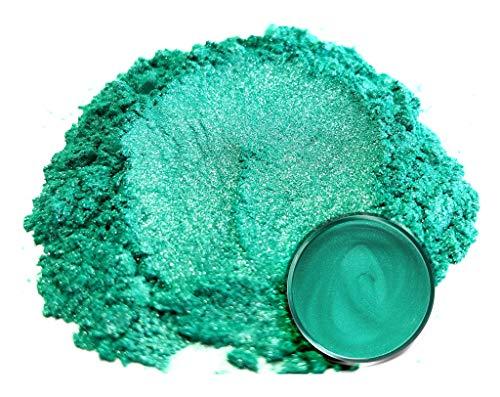 "Mica Powder Pigment ""Wasabi Green"" (50g) Multipurpose DIY Arts and Crafts Additive   Natural Bath Bombs, Resin, Paint, Epoxy, Soap, Nail Polish, Lip Balm"
