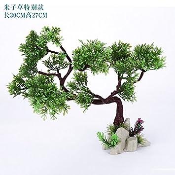 Acuario acuario plantas jardineria decoracion Feng Shui paquete de simulación de madera adornos de flores de plastico planta plantas artificiales,Tipo ...