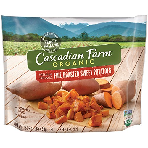 Cascadian Farm Organic Fire Roasted Sweet Potatoes, 16oz Bag (Frozen), Organically Farmed Frozen Vegetables, Non-GMO