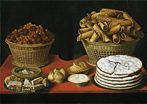Oil Painting 'Hiepes Tomas Dulces Y Frutos Secos Sobre Una Mesa First Third Of 17 Century' 18 x 26 inch / 46 x 65 cm , on High Definition HD canvas prints, Bed Room, Kids Room And Study Room decor (Spirit Halloween Printable Coupon)