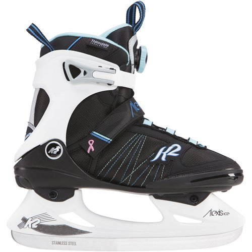 K2 Skate Alexis Ice BOA Skates, Black/White/Blue, Size 9.5 by K2 Skate