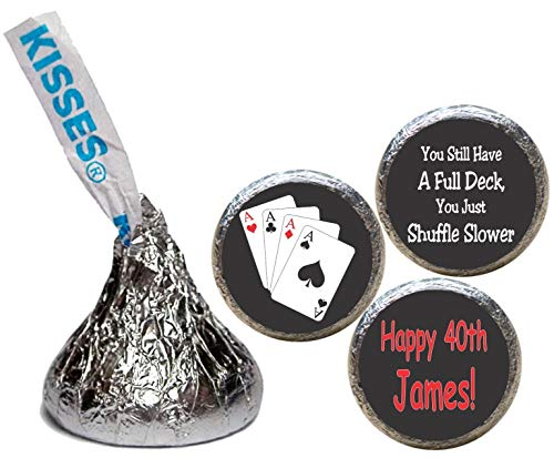 Poker Theme Birthday Kiss Stickers