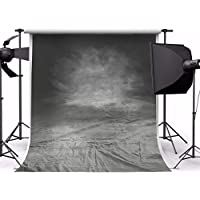 MOHOO Photography Backdrop 5x7ft Art Fabric Smoky Grey Thin Retro Background For Photo Studio Props(1.5x2.1m)No Creases