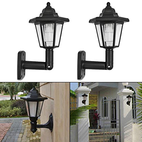 Elevin(TM)  2X Solar Power LED Light Path Way Wall Landscape Mount Garden Fence Lamp Outdoor -