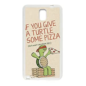 Cartoon Turtle With Pizza White Samsung Galaxy Note3 case