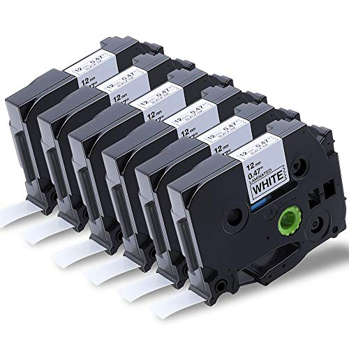 3x Label Tape TZ231 TZe231 Black on White Compatible with Brother P-Touch 12mm