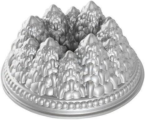 Nordic Ware Aluminiumguss Weihnachtsbackform Backform Tannenb/äume Winterwald Kuchenform